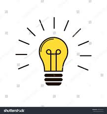 included light bulb on white background stock vector 492430210