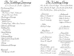 simple wedding program templates best photos of template of wedding ceremony sle wedding