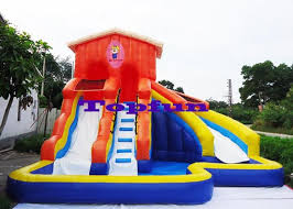 Backyard Bounce Inflatable Water Slide Waterproof Backyard Bounce House Swimming