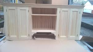 Solid Pine Kitchen Cabinets Solid Pine Kitchen Wall Cabinet With Plate Rack Can Be Painted Any