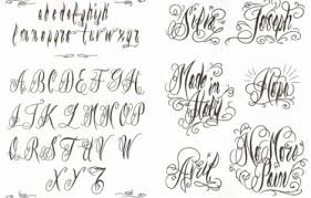 collection of 25 cursive lettering fonts designs