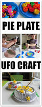 pie plate ufo space craft for kids no time for flash cards
