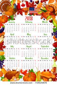 2018 calendar template decoration design stock vector
