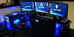 Computer Built Into Desk Custom Built Desk Custom Built Computer Desk Custom Gaming