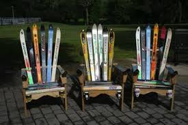 Used Adirondack Chairs The Prettiest And Most Bizarre Upcycled Ski Furniture Curbed Ski