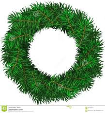 evergreen holiday wreath stock vector image 58466034