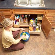 kitchen sink cabinet storage ideas kitchen cabinet storage solutions diy pull out shelves