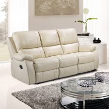 Cameo Ivory Cream Leather Reclining Sofa Collection - Cameo sofa