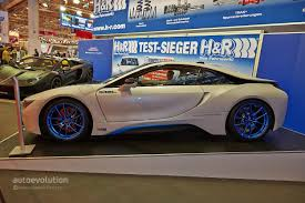 Porsche Boxster Lowered - h u0026r bmw i8 has a lowered stance at the essen motor show 2014 live
