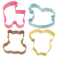 baby shower cookie cutter set wilton