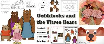 goldilocks and the three bears activities crafts and printables
