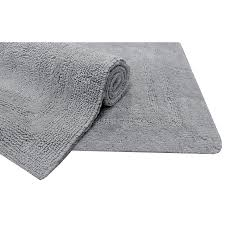 shop allen roth 34 in x 20 in light gray cotton bath mat at Bathroom Rugs And Mats