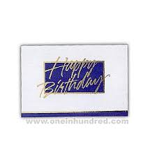 imprinted happy birthday greeting cards teal on white corporate