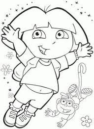 dora explorer coloring pages sheets kids dora