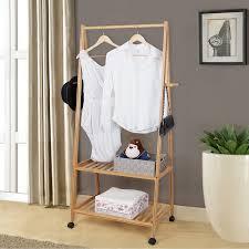 amazon com songmics multifuctional bamboo garment laundry rack