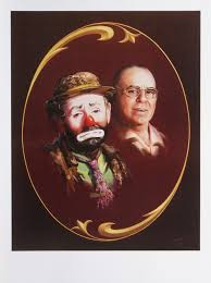 emmett kelly circus clown artist proof print 24x18 by artist