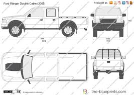 Ford Ranger Truck 2005 - the blueprints com vector drawing ford ranger double cabin