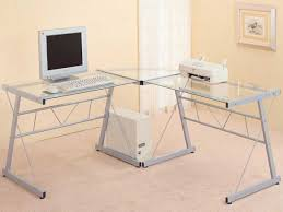 glass top l table desk astounding glass top l shaped desk l shaped computer desk ikea