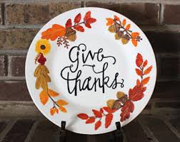 thanksgiving plate etsy