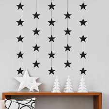 christmas star garland wall stickers by nutmeg christmas star garland wall stickers