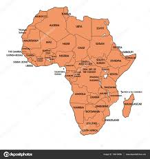 africa map all countries map of africa with all countries stock vector zlatovlaska2008