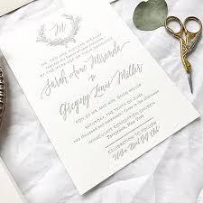 monogram wedding invitations and greg s magnolia wedding invitations wedding monogram
