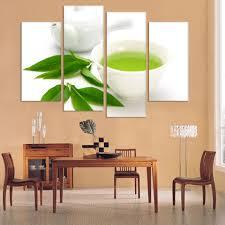 kitchen modern art wall art 4 piece canvas kitchen modern wall green tea painting