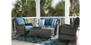 Patio Furniture St Louis 4 Piece Outdoor Seating Set Abbots Court By Ashley 1152 Mcguire