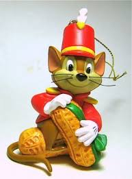 timothy mouse with peanut ornament grolier from our