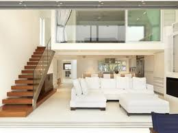 home interior staircase design extravagant modern white color minimalist big sofas design ideas in