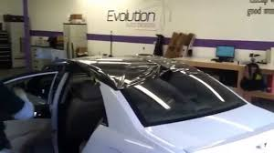 white lexus with black roof sonata black gloss roof wrap youtube