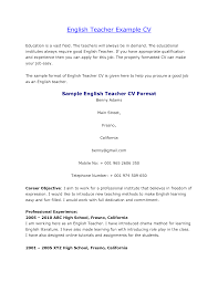 amusing resume examples for english teachers with sample resume