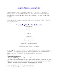 curriculum vitae exle for new teacher agreeable resume exles for english teachers on resume exle