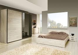 chambre chene blanchi complète contemporaine marius coloris chêne blanchi
