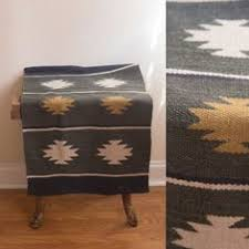 large mexican runner rug southwestern zapotec saddle home decor