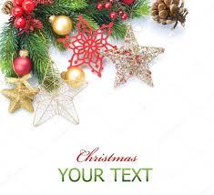 christmas border over white corner design u2014 stock photo