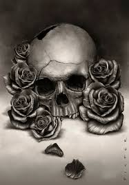skull and roses wanted to paint an more skull with