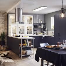 meuble cuisine bleu meuble de cuisine bleu delinia topaze leroy merlin