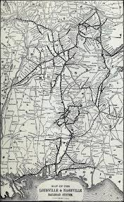 Louisville Map U0026 Nashville Railroad 1910 System Map
