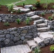 Retaining Wall Stairs Design Gabion Stairs Retaining Wall Ideas Simple Low Cost Retaining