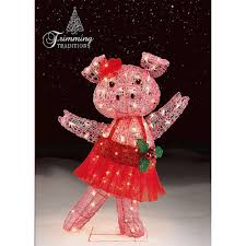 32 in tinsel pig with tutu and bow