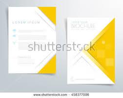design header paper yellow brochure template flyer background header stock vector 2018