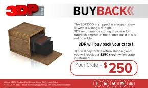 3dp announces crate buyback program 3d platform
