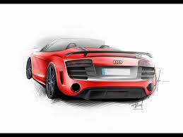Audi R8 Gt Spyder - 2011 audi r8 gt spyder design sketch 2 1920x1440 wallpaper