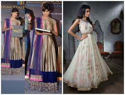 indian ethnic party wears net and silk dresses collection trends