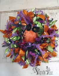 halloween ribbon wreath tutorial by trendy tree youtube