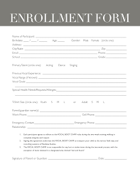 boot camp registration form template templates resume examples