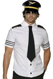 Halloween Airplane Costume Mens Captain Pilot Costume Costumelook