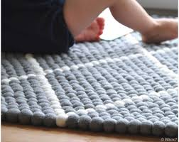 Wool Ball Rug Rectangle Felted Balls Carpets With Patterns In Large And Small Sizes
