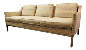 mid century modern milo baughman style geometric pattern sofa on